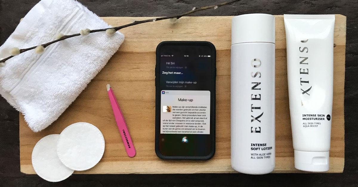 Siri, verwijder mijn make-up aub Met Renske